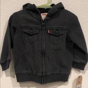 "Levis ""denim jean"" Jacket with hood"